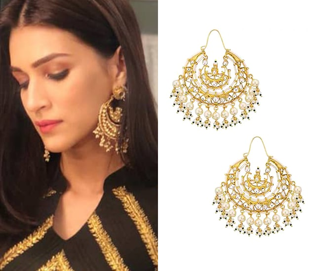 Gold Plated Baali Earrings by Riana Jewellery