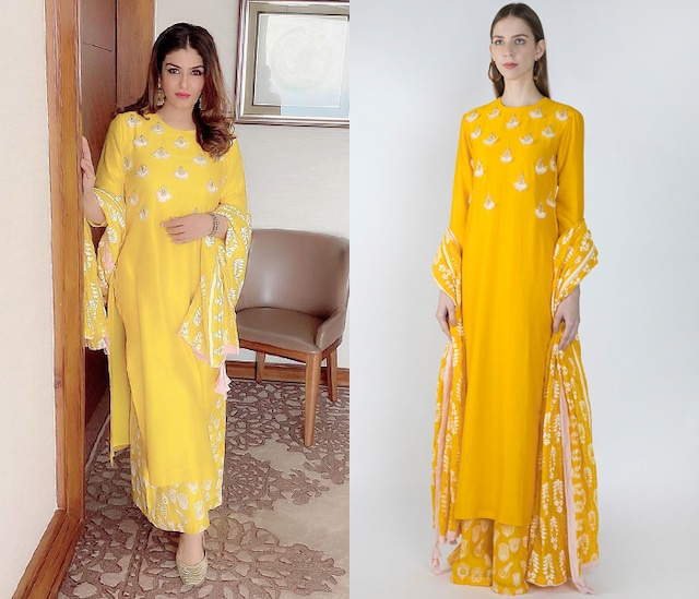 Yellow Embroidered Kurta Set by Masaba