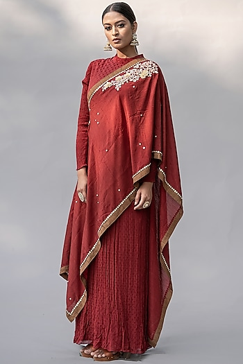 Red Embellished Dress by Abstract By Megha Jain Madaan