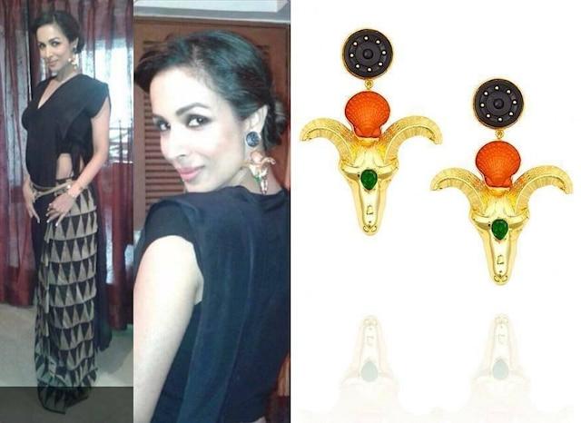 Ram shell earrings by Valliyan by Nitya