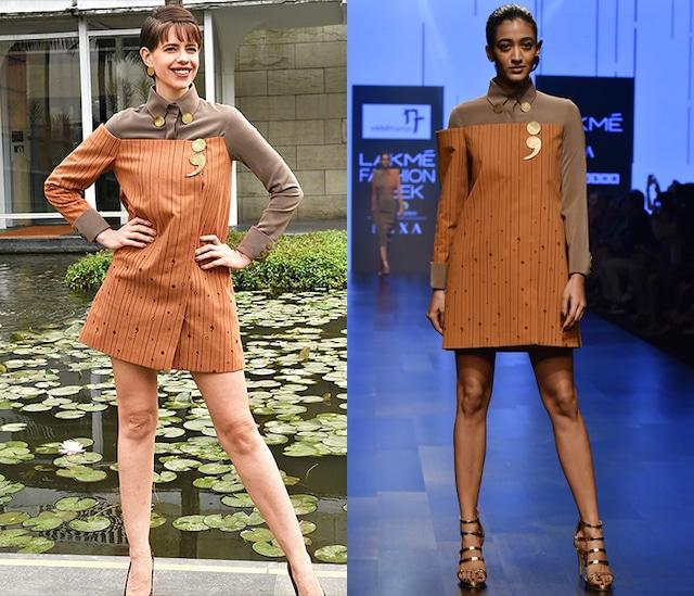Brown & Stone Shirt Mini Dress by Nikhil Thampi