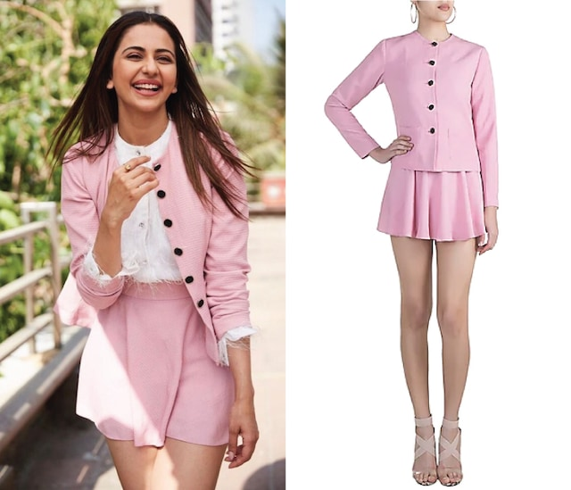 Pink Textured Jacket by Pernia Qureshi