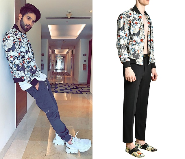 Multi Colored Printed Bomber Jacket by Shivan & Narresh Men