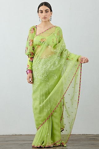 Green Printed Blouse by TORANI