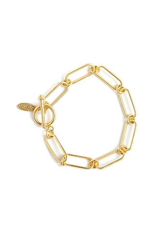 Gold Plated Link Bracelet by Zariin