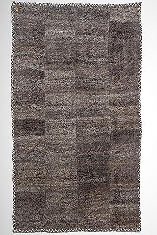 Grey Handwoven & Handspun Rug by Lena Ladakh Pashmina