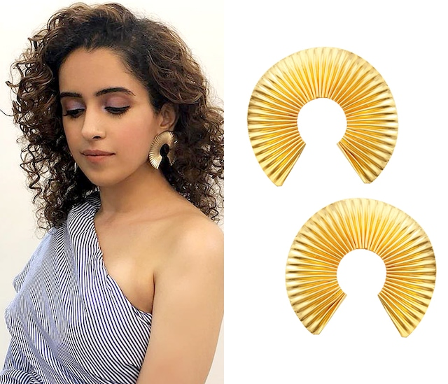 Gold finish Orient Earrings by Eurumme Jewellery