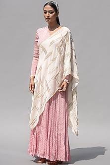 Pink Embellished Dress by Abstract By Megha Jain Madaan-ABSTRACT BY MEGHA JAIN MADAAN