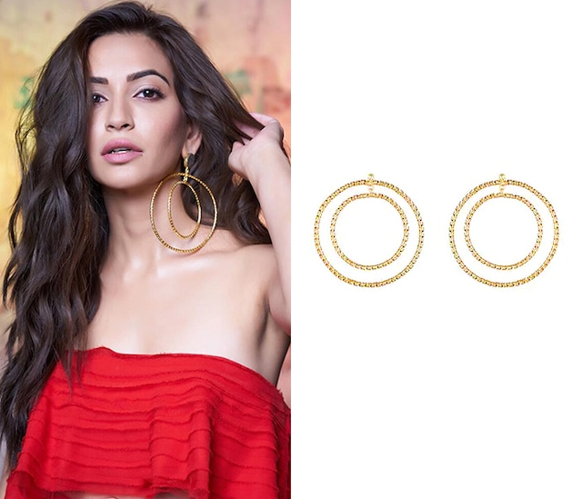 Gold Finish Handcrafted Hoop Earrings by Eurumme Jewellery