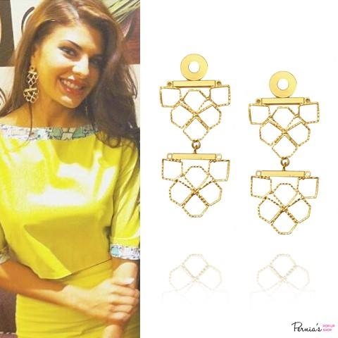 Gold plated saskia earrings by Micare
