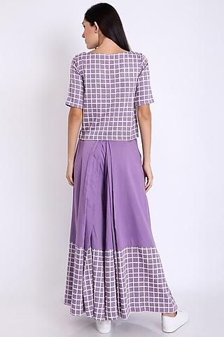 Purple Block Printed Top by 3X9T