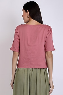 Pink Top With Short Sleeves by 3X9T