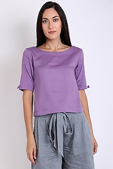 Purple Organically Dyed Top by 3X9T