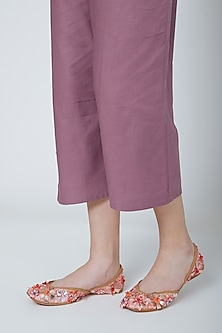 Light Pink Embroidered Juttis by 5 Elements