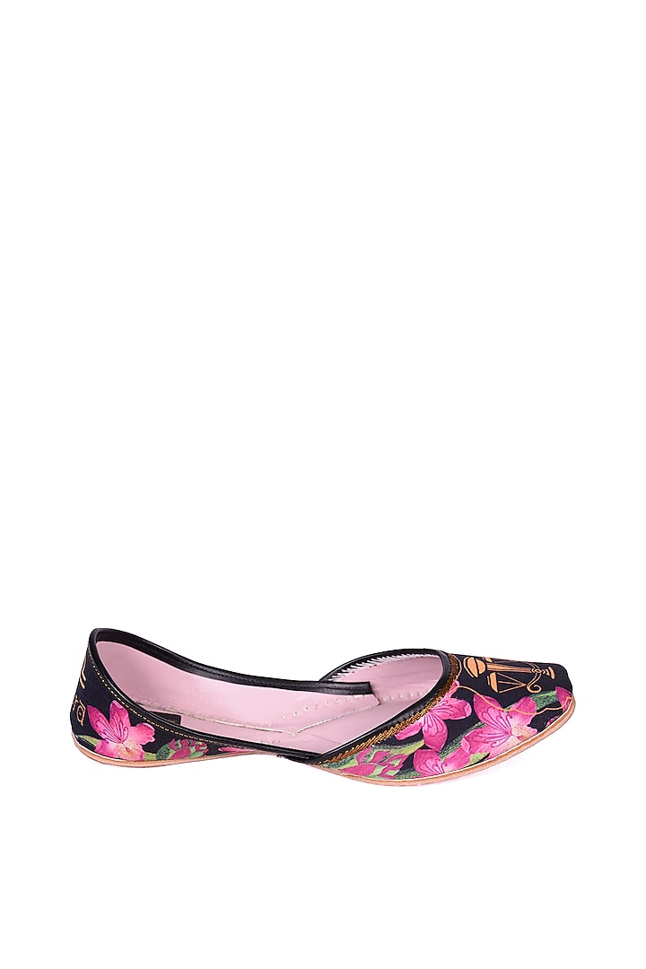 Multi Colored Libra Digital Printed Juttis by 5 Elements