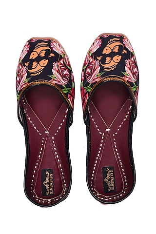 Multi Colored Pisces Digital Printed Juttis by 5 Elements
