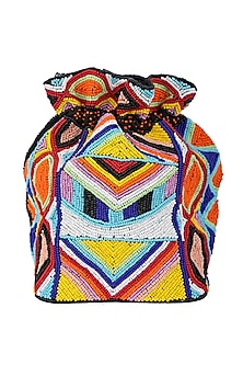 Multi Colored Embellished Potli by 5 Elements
