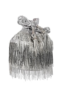 Silver Potli With Tassel Chain by 5 Elements