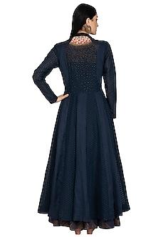 Teal Green Embellished Anarkali & Skirt Set by 5X by Ajit Kumar