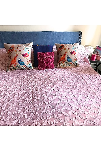 Dusty Pink Applique Bedcover by Karmadori
