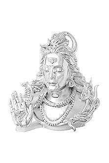 Omniscient Idol Silver Plated Shiva Head (L) by Shaze