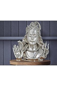 Omniscient Idol Silver Plated Satin Shiva Head (L) by Shaze