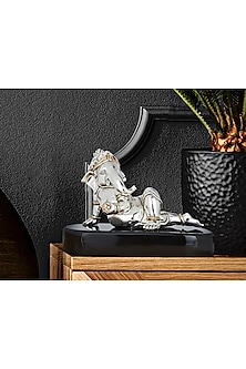 Silver Plated Sedentary Equable Ganesha (M) by Shaze