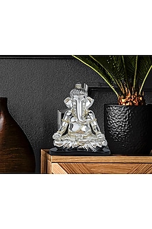 Silver Plated Pensive Ganesha (L) by Shaze