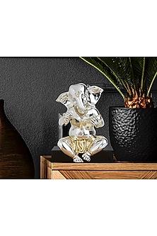 Perceptive Silver Plated Ganesha Idol (M) by Shaze