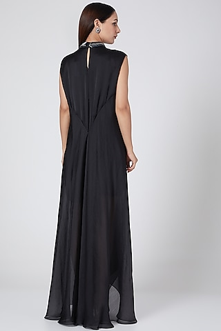 Black Embroidered Metallic Dress  by Amit Aggarwal
