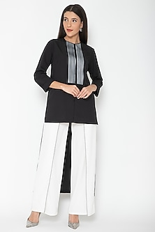 Black High-Low Tunic by Amit Aggarwal