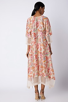 White Embellished & Printed Tunic by Archana Shah