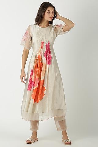 White Cotton Tunic Set by Archana Shah