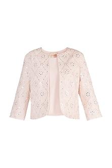Pink Embellished Jacket by Aarti Mahtani