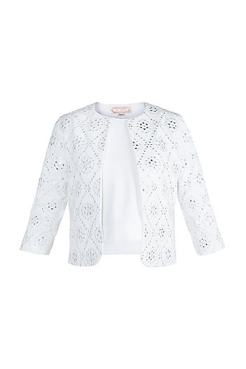 Ivory Mirror Embellished Jacket