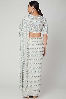 Ivory Embellished Saree Set by Aisha Rao