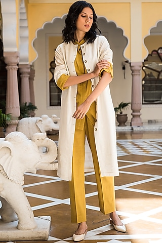 Turmeric Yellow Dyed Pants by Aavidi