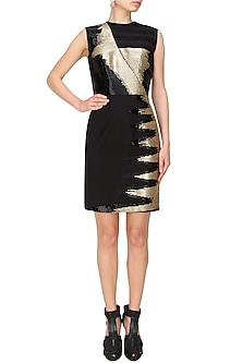 Black and gold sequins evening dress by AAWA By Aastha Wadhwa