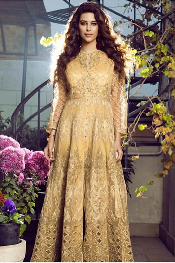 Gold Embroidered Jacket by Aashima Behl