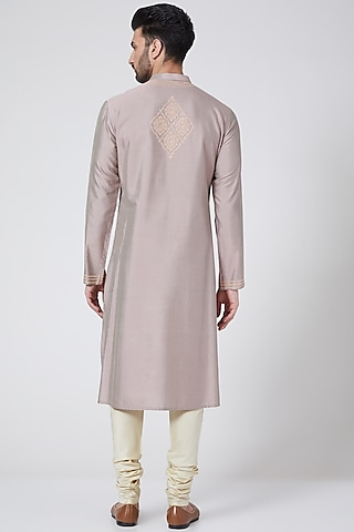 Onion Pink Kurta Set by Abhishek Gupta Men