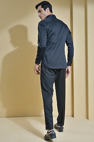 Black Pleated Shirt by Abkasa
