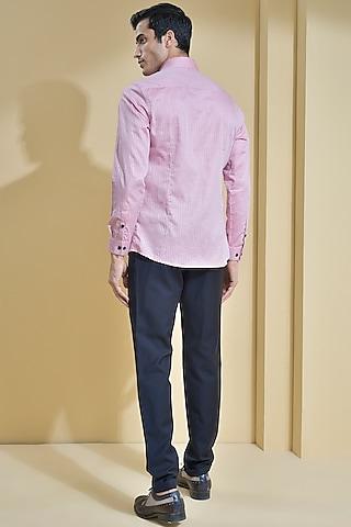 Reddish Pink Cotton Shirt by Abkasa