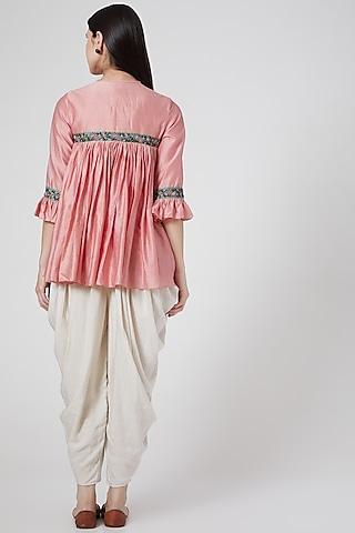 White Khadi Cotton Dhoti Pants by Abstract By Megha Jain Madaan