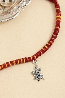 Silver Finish Hanuman Rakhi In Sterling Silver by ADORN BY NIKITA LADIWALA-DESIGNER RAKHIS