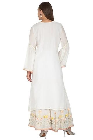 Off White Embroidered Gharara Set by Abhi Singh