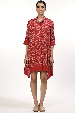 Rose Embroidered Shirt by Abraham & Thakore