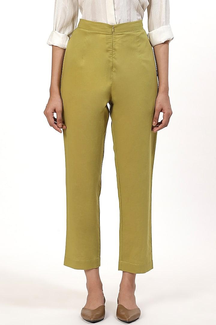 Amla Cotton Cambric Pants by Abraham & Thakore