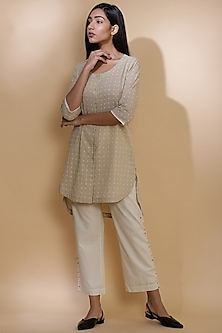 Sauf Colored Embroidered Shirt by Abraham & Thakore
