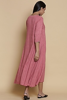 Rose Pink Embroidered Kurta by Abraham & Thakore