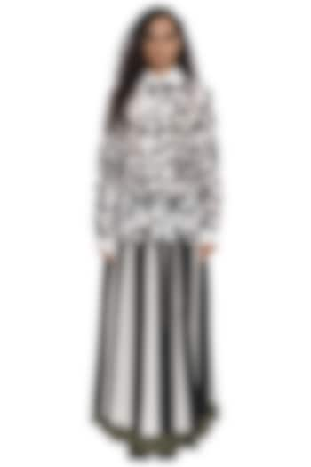Ivory Embroidered Top by Abraham & Thakore